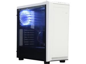 APEVIA X-MIRAGE X-MIRAGE-WHT Black / White SECC Black Metal Chassis, ABS Plastic Front Panel ATX Mid Tower Computer Case