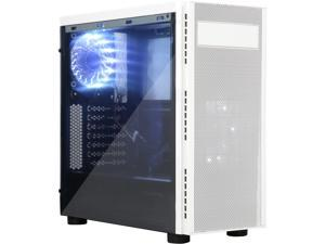 APEVIA X-HARMONY-WHT Black / White SECC Black Metal Chassis, ABS Plastic Front Panel ATX Mid Tower Computer Case