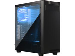 APEVIA X-INFINITY-BL Black SECC Black Metal Chassis, ABS Plastic Face Plate ATX Mid Tower Computer Case