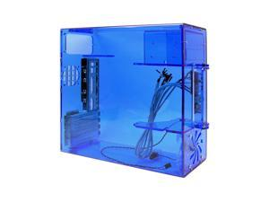 POWMAX MATXARC-1 Blue Computer Case With Side Panel Window