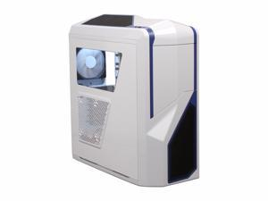 NZXT Phantom 410 Series CA-PH410-W2 White/Blue Blue Trim Computer Case With Side Panel Window