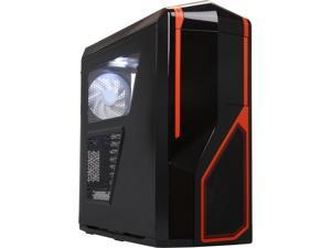 NZXT Phantom 410 Series CA-PHAN-40-BNO Black/Orange Orange Trim Computer Case With Side Panel Window