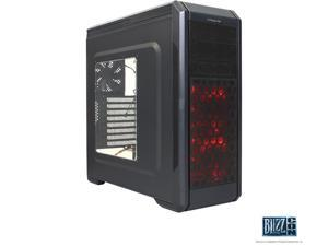 Rosewill ATX Mid Game Case HDD Dock Fan Control 5 Fan - Stealth