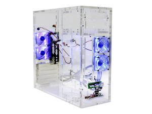 LOGISYS Computer CS688CL Transparent Computer Case Pre-Assembled With Side Panel Window