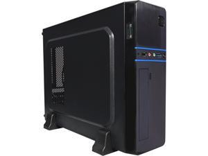 LOGISYS Computer CS6802BK Black SGCC MicroATX Slim Case Computer Case 350W Power Supply