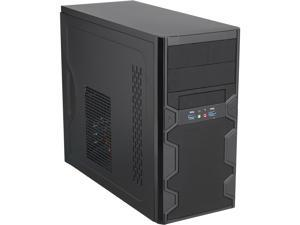 APEX TX-606-U3 Black Steel / Plastic MicroATX Tower Computer Case USB3.0 with USB2.0 Adapter Cable 300W Power Supply