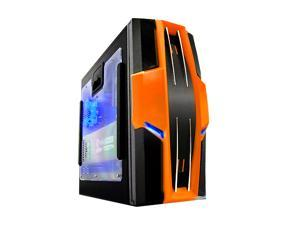 RAIDMAX AZTEC ATX-619WOP Black/ Orange Computer Case With Side Panel Window