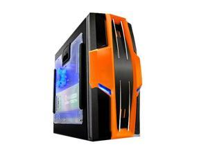 RAIDMAX AZTEC ATX-619WO Black/ Orange Foldout MB Computer Case With Side Panel Window