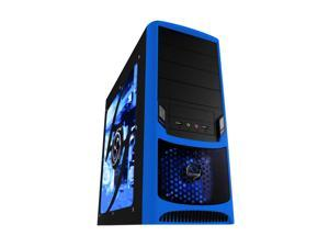 RAIDMAX Tornado ATX-238WU Black/Blue Computer Case With Side Panel Window