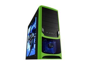 RAIDMAX Tornado ATX-238WG Black / Green Computer Case With Side Panel Window