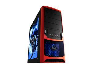RAIDMAX Tornado ATX-238WR Black/Red Computer Case With Side Panel Window