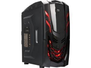 RAIDMAX Viper GX ATX-512WBR Black/Red Steel / Plastic ATX Mid Tower Computer Case