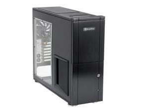 SilverStone Temjin Series TJ10-BW Black Computer Case With Side Panel Window