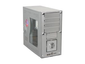 Linkworld B319-89WU Gray / Silver Computer Case With Side Panel Window