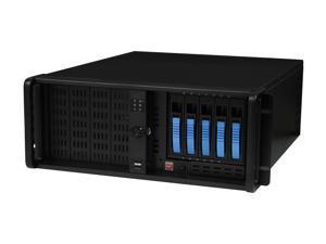 "iStarUSA D-4-B350PL-Blue Steel 4U Rackmount Server Case 5x3.5"" SATA Hot-Swap with 20"" Depth Only"