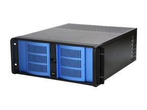 iStarUSA D-400-6-Blue Steel 4U Rackmount Compact Stylish Server Chassis