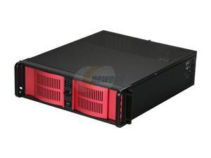 iStarUSA D-300/350-AB-RED Steel 3U Rackmount Compact Stylish Server Chassis - OEM