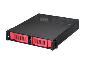 iStarUSA D-200-AB-RED Steel 2U Rackmount Compact Stylish Server Chassis - OEM