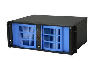 iStarUSA D-400S3Blue Zinc-Coated Steel 4U Rackmount Ultra Compact Chassis - OEM