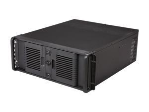 iStarUSA D-407P-DE6BL Black Steel 4U Rackmount Compact Stylish Server Case