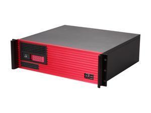 iStarUSA D313SEMATX-DE1RD-RD 3U Rackmount Compact Trayless Server Case - Red Bezel