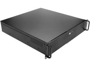 iStarUSA DN-200-40R8P Black SGCC 1.0mm 2U Rackmount 2-Bay Compact microATX Chassis with 400W Redundant Power Supply