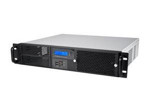 "Athena Power RM-2UD220S40 Black 1.2mm Thickness Steel 2U Rackmount Server Case 400W 2 External 5.25"" Drive Bays with LED temperature display"