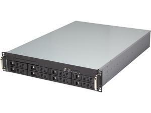 """Athena Power RM-2U2083HER2708 2U Server Storage EATX Chassis w/8x 3.5""""SAS/SATA Hot SWAP, 700W Redundant 80 PLUS BRONZE"""