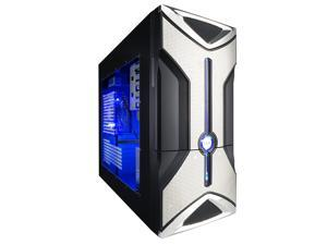 XION Onyx XON-303 Black/Blue Computer Case With Side Panel Window
