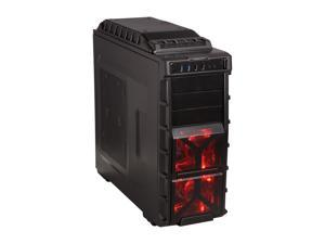 XION Gaming Series XON-980-BK Black with RED LED Light Computer Case