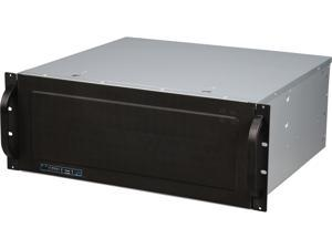 NORCO RPC-431 Black 4U Rackmount 4U Short Depth Rackmount Case with Rotating 9 x 3.5? Drive Cage
