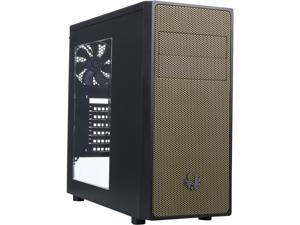 BitFenix BFC-NEO-100-KKWKA-RP Black body with gold front panel Steel / Plastic Computer Case