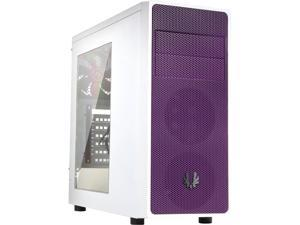 BitFenix Neos Window Side Panel Computer Case, White/Purple BFC-NEO-100-WWWKP-RP, ATX/Micro ATX/Mini-ITX Form Factor, Compatible with ATX PSU