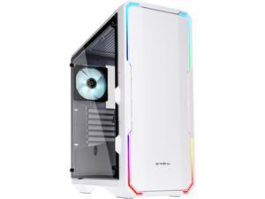 BitFenix Enso Case White, Tempered Glass Window Side Panel, ATX/Micro ATX/Mini ITX Form Factor, Asus AURA SYNC 3 pin Addressable RGB LED, ATX PSU Compatible BFC-ENS-150-WWWGK-RP
