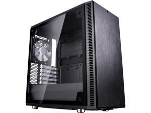 Fractal Design Define Mini C TG Black Tempered Glass Window Silent Compact MATX Mini Tower Computer Case