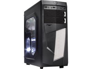 DIYPC  Mirage-D1-W Black/White SECC USB3.0 ATX Mid Tower  Computer Case with 3 x 120mm White Fans (Pre-Installed)