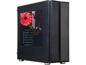 DIYPC DIY-J21-BK Black USB 3.0 ATX Mid Tower Gaming Computer Case with Pre-installed 3 Fans, Front Panel Pre-installed 6 Different Color Changeable LED Strip (5 Modes Control)