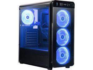 DIYPC VisionII-BL ATX Mid Tower Gaming Computer Case Chassis and USB 3.0 (Black)