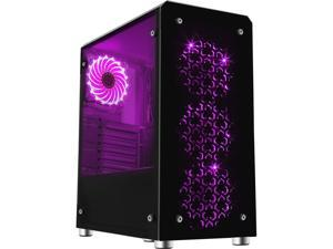 DIYPC Chameleon-RGB ATX Mid Tower Gaming Computer Case Chassis