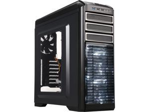 DEEPCOOL KENDOMEN Black ATX Mid Tower Computer Case Preinstalled 5 Cooling Fans With Side Window Support 240mm Water Cooling Installation at Top