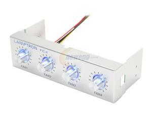 "1ST PC CORP. FC-FC4-S Lamptron 5.25"" 4-channel fan controller, 20w/channel, 3-pin fan & molex power connector"