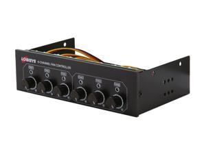 LOGISYS Computer FP600BK 6-Channel Fan Controller