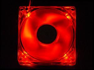APEVIA CF4SL-URED 80mm Red LED Case Fan