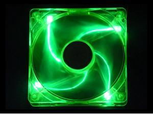 APEVIA CF12SL-UGN 120mm Green LED Case Cooling Fan