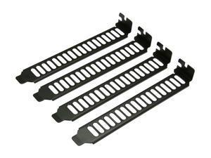 Silverstone AEROSLOTS-BP Maximum Vented PCI Slot Covers - Black Painted Finishing