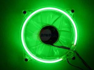 LOGISYS Computer CCF80GN Green LED Case Cooling Fan