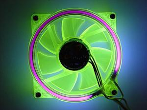 LOGISYS Computer CCF80UVGN 80mm Purple LED Case Cooling Fan