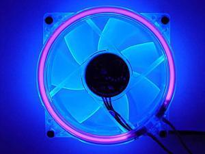LOGISYS Computer CCF80UVBL Blue LED Case Cooling Fan