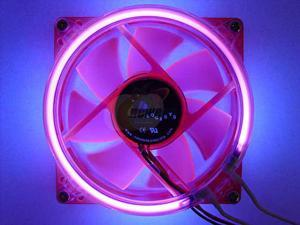 LOGISYS Computer CCF80UVRD Red LED Case Cooling Fan