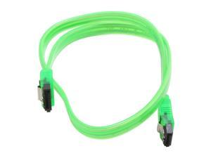 "Link Depot Model SATA-L0.5-UVG 19"" UV Green Latch Serial ATA Cable"
